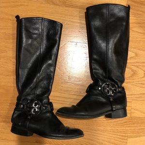 Tory Burch Shoes - Tory Burch Black Leather Riding Boots